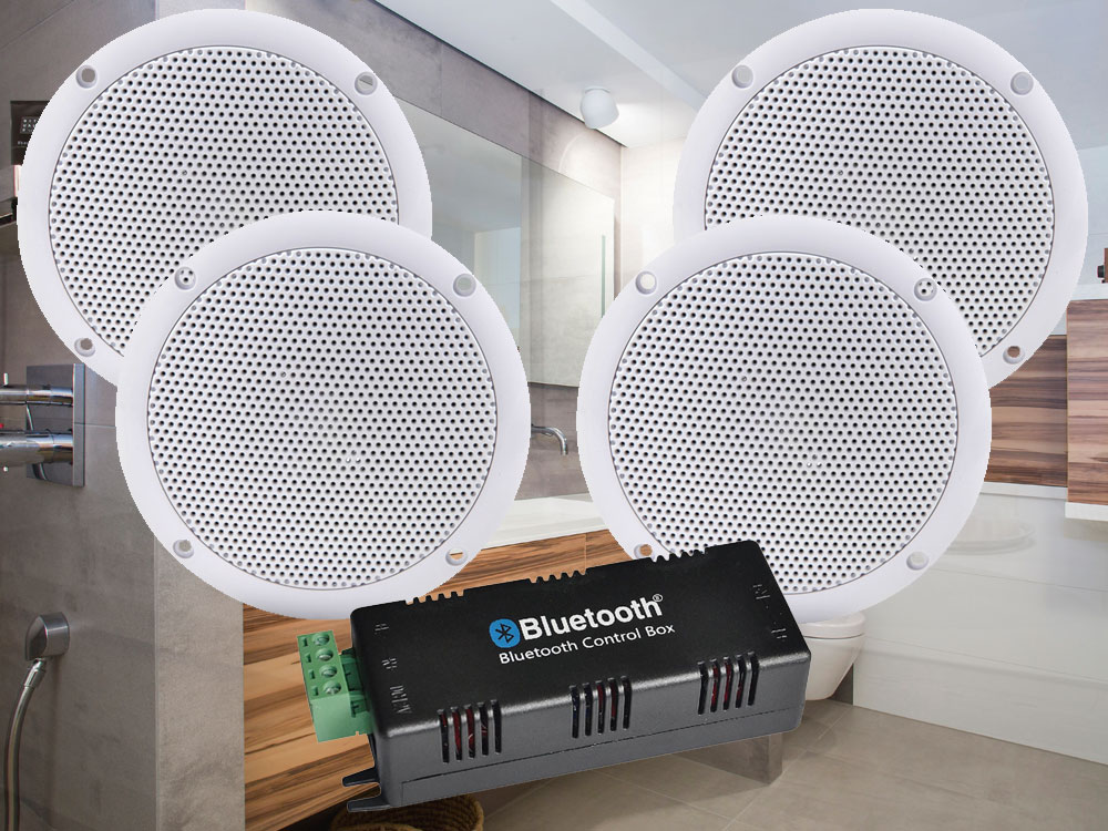 Adastra Badkamer 3 badkamer plafond speakerset incl. bluetooth ...