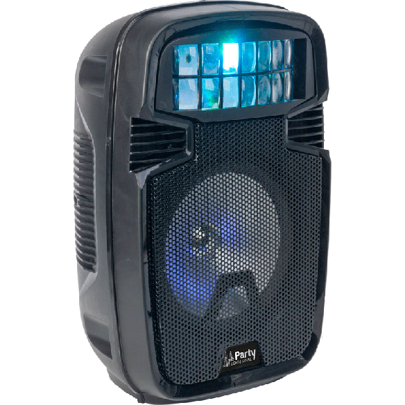 "Party Light & Sound PARTY-8COMBI Mobiele Bluetooth PA Luidspreker box 8"" met derby effect"
