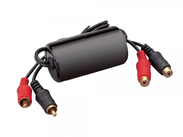 AV:Link Ground loop isolator aardlus filter met RCA aansluitingen
