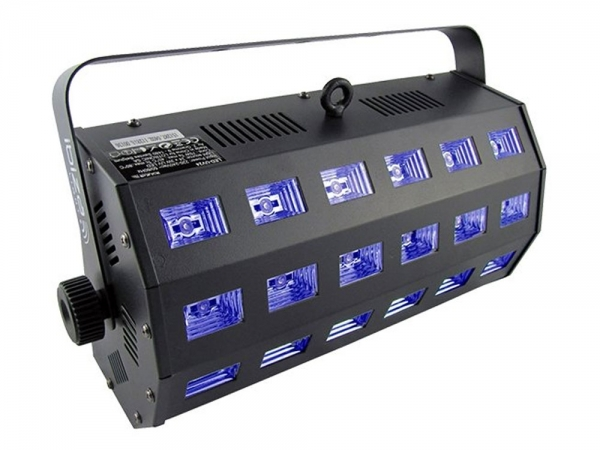 Ibiza Light LED-STUV24 2-in-1 UV blacklight en witte LED projector en stroboscoop DMX