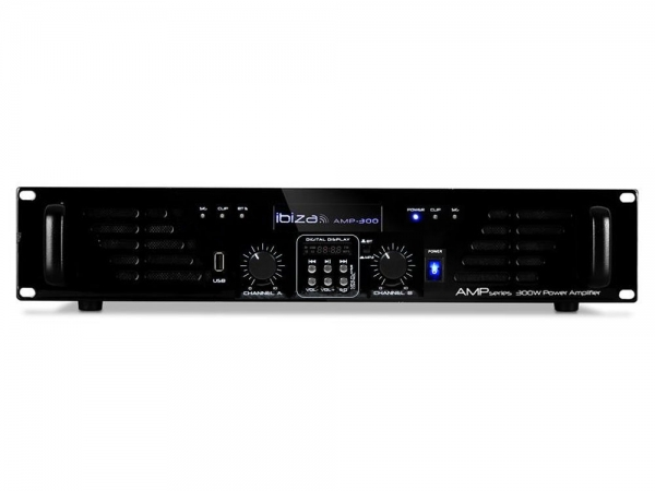 Ibiza Sound AMP300USB-BT bluetooth mosfet versterker USB/MP3 speler 2x 240W
