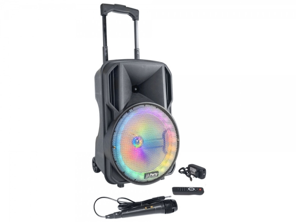 "Party Sound PARTY-10RGB mobiele bluetooth PA luidspreker box 10"" 400W"