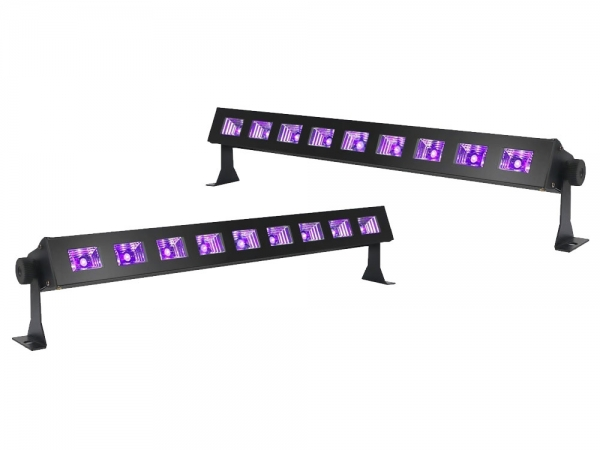 Ibiza Light LED-UVBAR-2 wash blacklight 9x 3W 2 pack
