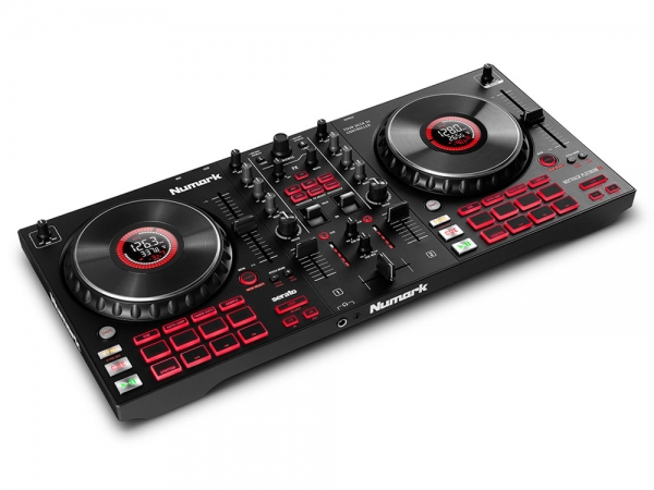 Numark Mixtrack Platinum FX 4-Deck DJ Controller with Jog Wheel Displays en Effects Paddles