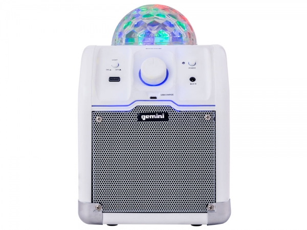 Gemini MPA-500W portable party speaker met bluetooth en discobal