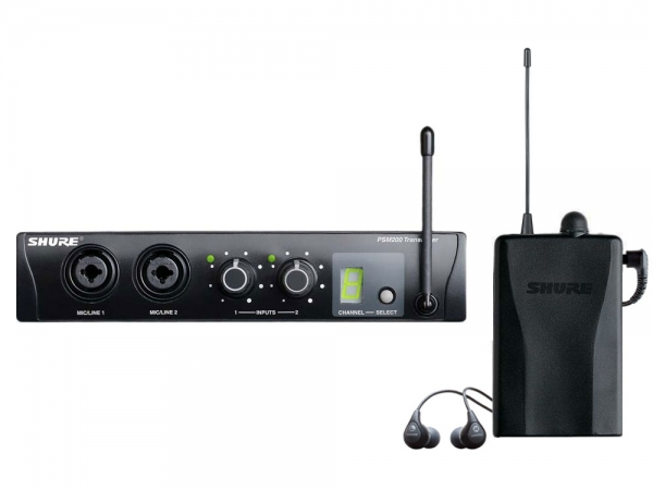 Shure PSM200 draadloos in-ear monitorsysteem met Shure SE112 in-ear