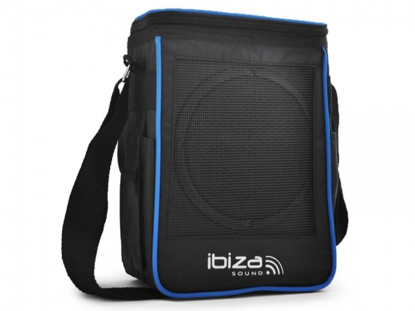 Ibiza PORT6 portable speaker in tas met microfoon 50 Watt
