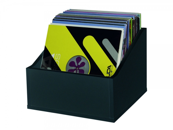 Glorious Record Box advanced black 110 platenbak voor 110 platen