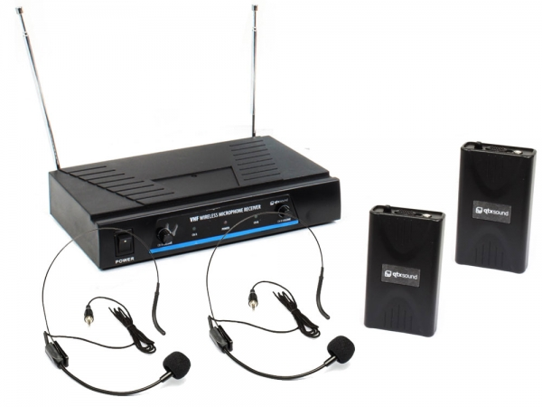 Qtx VN2 draadloos headset microfoon systeem VHF