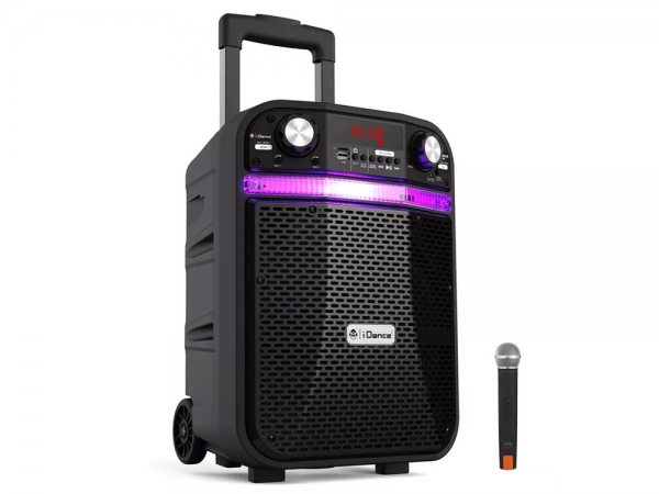 iDance Audio Groove 408x portable bluetooth party karaoke speaker met discoshow