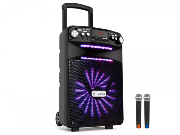 iDance Audio Groove 508x portable bluetooth party karaoke speaker met discoshow