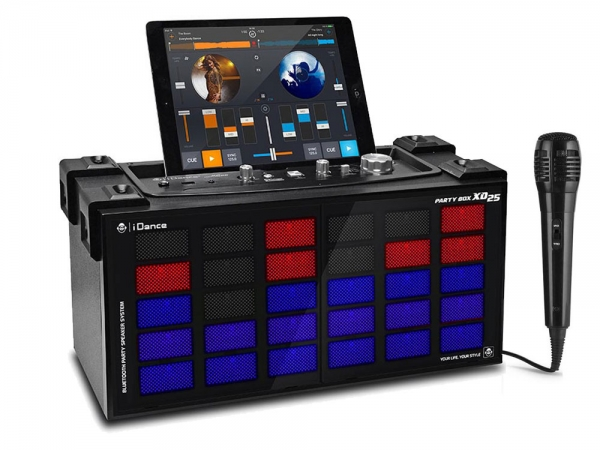 iDance Audio XD25 All-in-one DJ Partybox Zwart met lichtshow en bluetooth + gratis microfoon