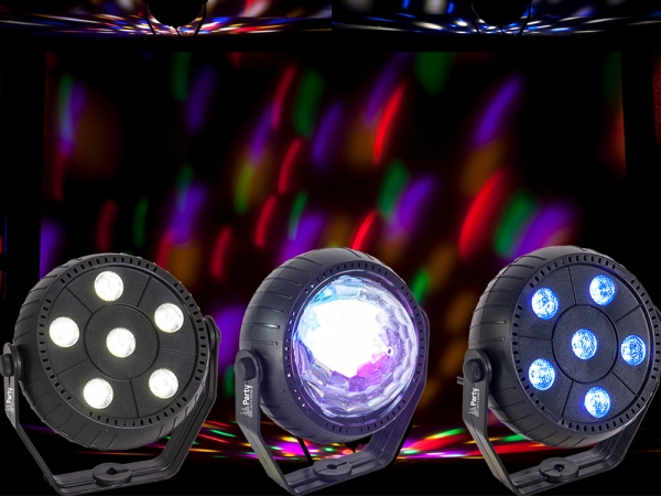 Party Light PARTY-TRIFX Set van 3 mini lichteffecten