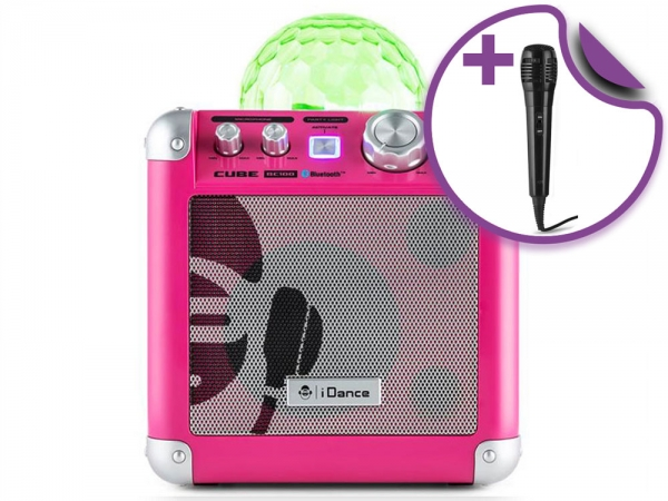 iDance BC100 Partybox Sing Cube Roze (B-Stock 435)