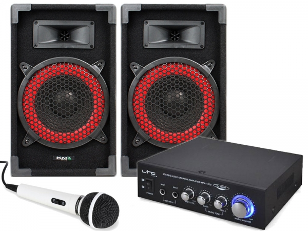 Red Sound Basic speaker/versterker set 400W