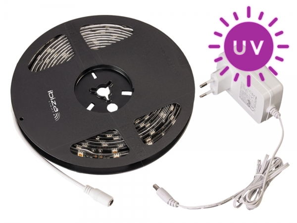 Ibiza Light UV blacklight LED strip 5 meter