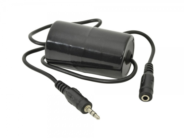 AV:Link Ground loop isolator aardlus filter met 3.5mm mini stereo Jack aansluitingen