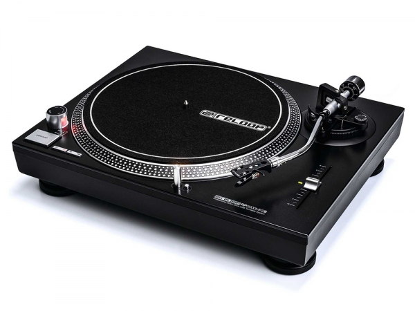 Reloop RP-2000 USB MK2 direct drive DJ platenspeler met USB interface  + OM Black element