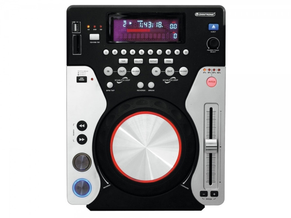 Omnitronic XMT-1400 tabletop CD/USB/SD MP3 mediaspeler