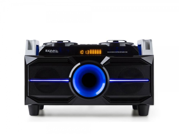Ibiza Sound SPLBOX100 all-in-one bluetooth partybox USB/SD speler en FM tuner 100W