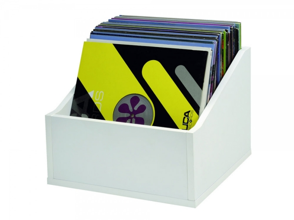 Glorious Record Box advanced white 110 platenbak voor 110 platen