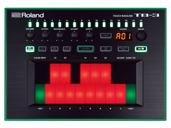 Roland TB-3 Touch Bassline Aira Bass Synthesizer