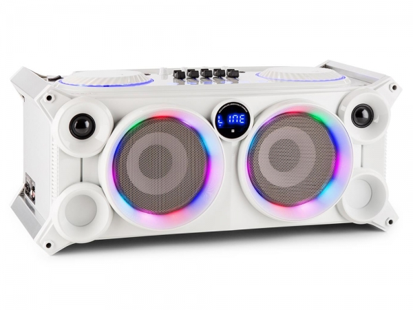 Ibiza Sound SPLBOX200-WH bluetooth Party Station op accu 240W