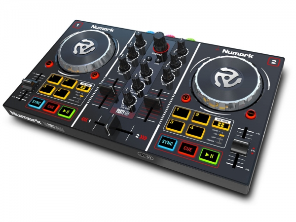 Numark Party Mix DJ controller met Serato DJ software