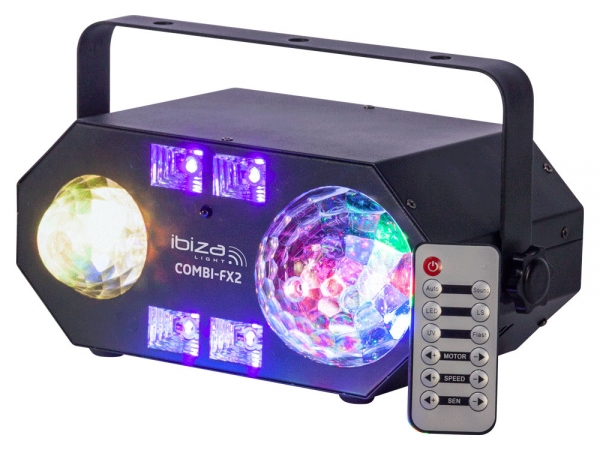 Ibiza Light COMBI-FX2 4-in-1 lichteffect astro, watereffect, UV blacklight en stroboscoop