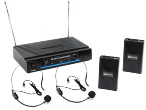 Qtx Sound VN2 draadloos headset microfoon systeem VHF 173.8 + 174.8MHz