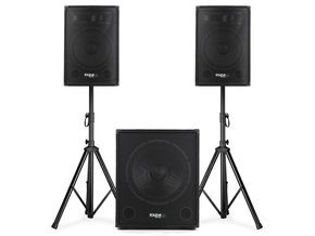 Ibiza Sound CUBE1812 actieve 2.1 speaker subwoofer set 2400W