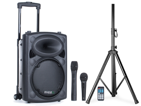 Ibiza Sound PORT10VHF-BT mobiele bluetooth PA luidspreker sound box + Gratis speakerstatief