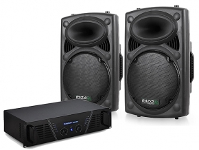 Ibiza Elite600 speakerset met versterker 1000 Watt
