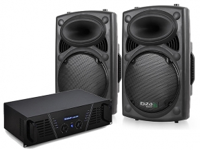 Ibiza Elite800 speakerset met versterker 1200 Watt