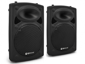 Qtx QR12AS set actieve PA speakers 1600W