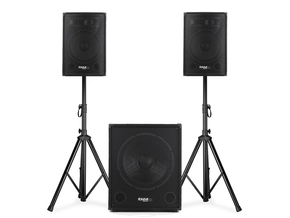 Ibiza Sound CUBE1510 actieve 2.1 speaker subwoofer set 1600W