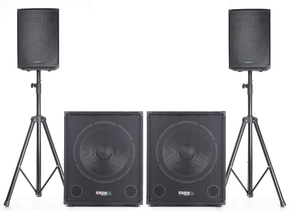 IBIZA CUBE1815DUO Actieve 2.2 speakerset 4000W