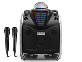 iDance Audio XD200 bluetooth party speaker met lichtshow + 2 gratis microfoons