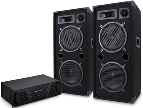 Ibiza Bass Tower 215 speakerset + versterker 4000W