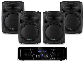 Ibiza Sound Quadra 8 Pack complete PA set 1200 Watt