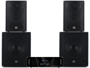 Qtx Sound QT1812 2.2 speaker subwoofer versterker set 3000W