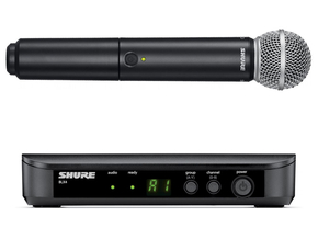 Shure BLX24/SM58 draadloos handheld microfoon systeem