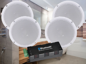 Badkamer Speaker Bluetooth : Adastra badkamer 3 badkamer plafond speakerset incl. bluetooth