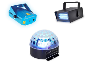 Party Light complete licht set met astro, strobo en laser