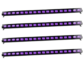 Ibiza Light LED-UVBAR18-4 wash blacklight 18x 3W 4 pack