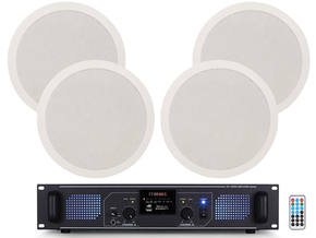 Adastra SPL1000-8 plafond speakers + multimedia versterker 1000W