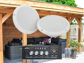 Adastra Overkapping 1 plafond speakerset incl. bluetooth versterker 2x 15W