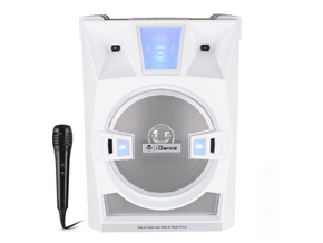 iDance Audio XD30A V2 White karaoke bluetooth soundbox + gratis microfoon