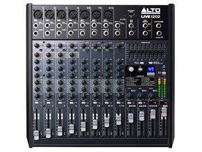 Alto LIVE1202 Professionele 12 kanaals stage / studio mixer met USB interface