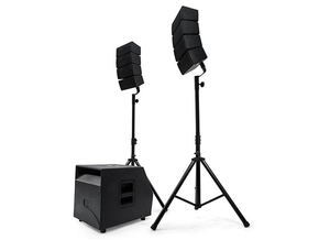 Alecto PAS-500 draagbare actieve bluetooth line array 2.1 speaker set 2000W